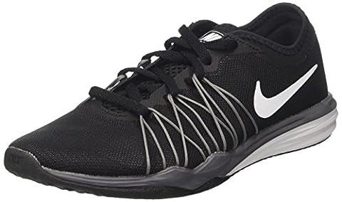 Nike Damen Dual Fusion TR Hit Hallenschuhe, Grau (Black/White-Mtlc Cool Grey-Wolf Grey), 40 EU