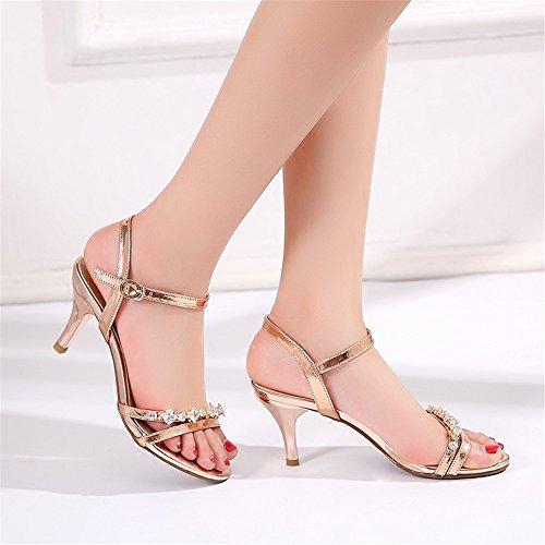 HXVU56546 fille de l'été de nouvelles chaussures à haut talon sandales fines avec perceuse avec de l'eau chaussures pour femmes