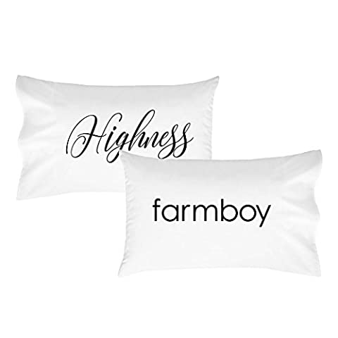 Oh, Susannah Highness Farmboy Pillowcase Set - Fits Standard Pillow Inserts (2 20x30 inch, Black)