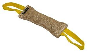 Bâton à mordre pour l'entraînement - Fabriqué en JUTE de qualité - Parfait pour l'entraînement - Taille M - 6 cm de large par 30 cm de long - 2 poignées à chaque extrémité - LES COULEURS PEUVENT VARIER !!! Disponible dans plusieurs tailles et matériaux. C