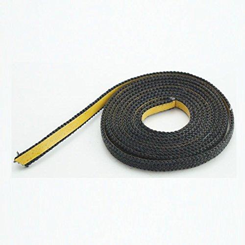 Glasband schwarz 10×2 flach Beutel á 2m
