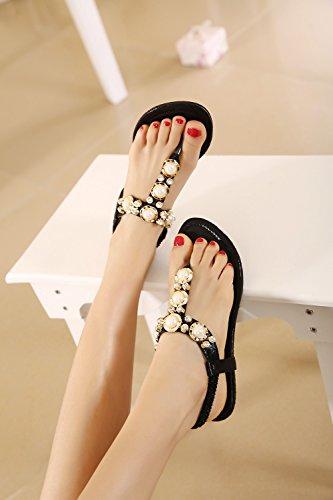 dqq femmes de perles ankls Sangle String Sandal 1