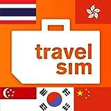 TravelSim Welt Prepaid SIM Karte für China, Hongkong, Südkorea, Singapur und Thailand (SMS/Telefonieren & Daten) mit 15 € Startguthaben (1 MB - 0.015 EUR, ohne Internet-Zensur, 4G/ 3G)