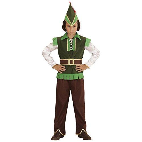 Widmann 73017 - Kinderkostüm Robin Hood, Oberteil, Hose, Hut, Feder und Gürtel, braun, Grö Preisvergleich