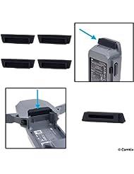 Batterie- und Ladeanschluss-Protektoren aus Silikon für DJI Mavic Pro Drohne - 4x Akku- und 1x Ladeanschluss-Abdeckung - Stromanschluss-Sicherheitskappen - Perfekte Reise- und Aufbewahrungslösung