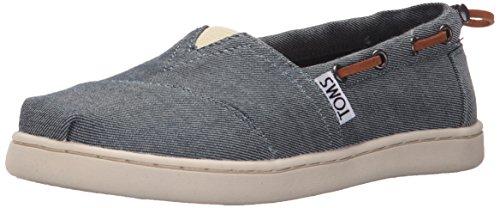 TOMS Kinder (Jungs) Slipper Bimini Blau Textil 36
