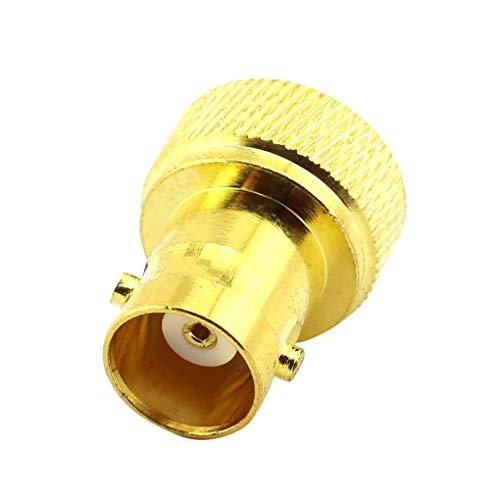 Bobury 1/2/4 / 6Pcs RF Koaxial Koax Adapter BNC-Buchse auf SMA-Stecker-Adapter-Verbindungsersatz Vergoldet Bnc-koax Adapter