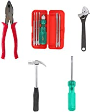 Suzec Johnson Advance Home Kit Combination Plier & 5-Pieces Screwdriver Kit (Multicolour) & Adjustable