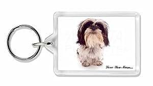 Shih- Tzu Dog 'Love You Mum' Foto Schlüsselbund TierstrumpffüllerGeschenk