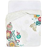 Desigual bed2_ Essential funda de edredón dos persona Reversible, algodón, 260x 240cm, color blanco