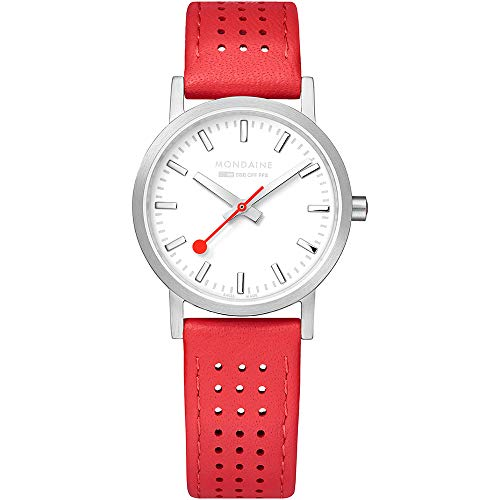 Mondaine SBB Classic Red Leather Strap Ladies' Watch