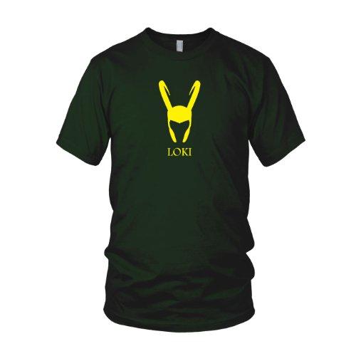 Loki Kostüm Marvel - Loki - Herren T-Shirt, Größe: M, Farbe: dunkelgrün