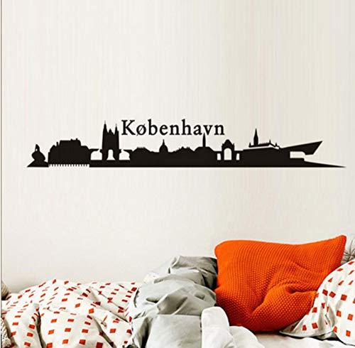 sasdasld Dänemark kobenhavn stadt gebäude wandaufkleber diy landschaft wandtattoo wohnzimmer hintergrund dekor wandtattoo tapete265 * 40 cm -
