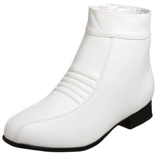 Pleaser Pimp-50,  Herren Kurzschaft Stiefel, Weiß, 40/41 EU (S) (Pimp Kostüm Schuhe)