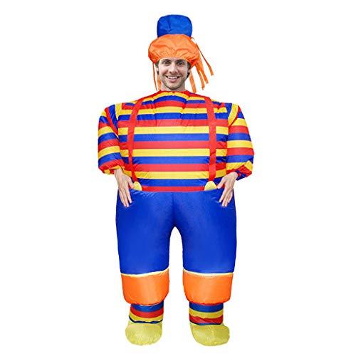 Lazzboy Karnevals-lustige Erwachsene Cosplay-aufblasbare Kleidungs-Partei-Charakter Show-Kleidung(M,Mehrfarbig)