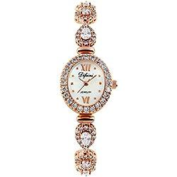 Fashion diamond women watch/Waterproof quartz Bracelet Watch/Simple casual watches-E