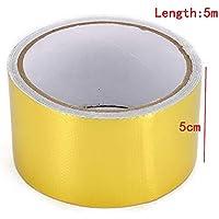 PerGrate 5Mx5CM Hitzebeständige Adhesive Fiberglas Reflektierende Hochtemperatur Hitzeschild Wrap Tapes preisvergleich bei billige-tabletten.eu