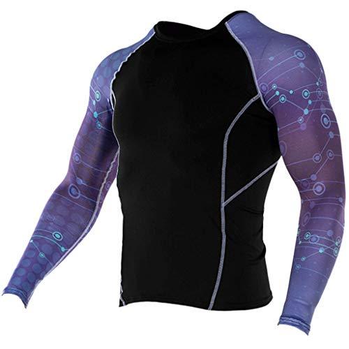 essionsshirt Langarmshirt Funktionsshirts Top Fitness Kompressions-Shirt LangäRmlig Langarm Sport Laufshirt Atmungsaktiv Sportshirt Running Jogging Yoga(Lila-10,S) ()