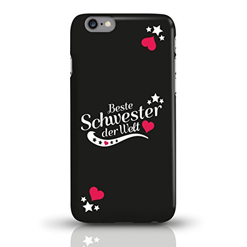 """JUNIWORDS Handyhüllen Slim Case für iPhone 6 / 6s mit Schriftzug """"Beste Schwester der Welt"""" - ideales Weihnachtsgeschenk für die Schwester - Motiv 2 - Handyhülle, Handycase, Handyschale, Schutzhülle f motiv 1"""