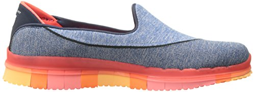 Skechers Go Flex, Baskets Basses Femme, 36 EU Navy/Coral