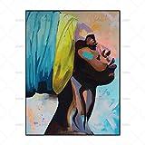 FENGJIAREN Hochauflösender Druck Poster Und Drucke Kunst Abstrakt Afrika Frauen Dekoration Leinwand Gemälde Für Wohnzimmer Home Decor Kein Rahmen, 20 cm × 30 cm