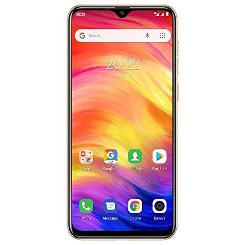 Ulefone Note 7 (2019) SIM-freie Smartphones mit Dreifacher Rückfahrkamera entsperrt, 6,1-Zoll-Vollbild-Dual-SIM 1GB+16GB Telefon für Android 9 Handy ohne Vertrag, Gesichtserkennung(Gold)