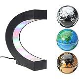 MECO Créatif Globe Terrestre Lumineux Flottant Magnétique Lévitation Globe Lamp avec Lumières LED Sphère pour Démonstration de l'enseignement Décorations Maison et Bureau Cadeau de Noël d'Anniversaire