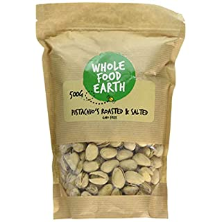 Wholefood Earth Roasted and Salted Pistachio's, 500 g
