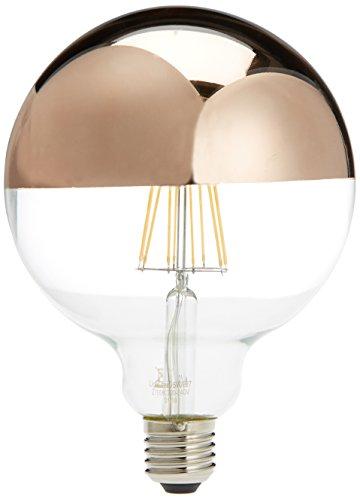 X Lighted Lampadina Led E276 Specchio WOro 170 Rosa125 Mm Globo ym8w0vNnO