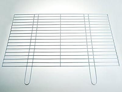 Grillrost 80x50cm - Auflagestäbe Ø 4mm - stabile & schwere Ausführung mit zwei Handgriffen