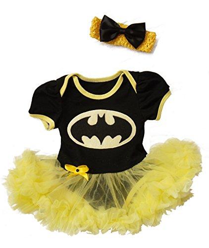 Batgirl 3-6 Monate Baby Kleinkind Mädchen Spielanzug Party Spiel Kleid (Outfits Batgirl)