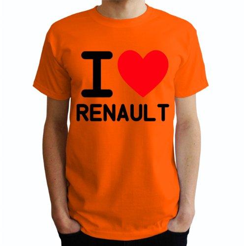 I love Renault Herren T-Shirt Orange
