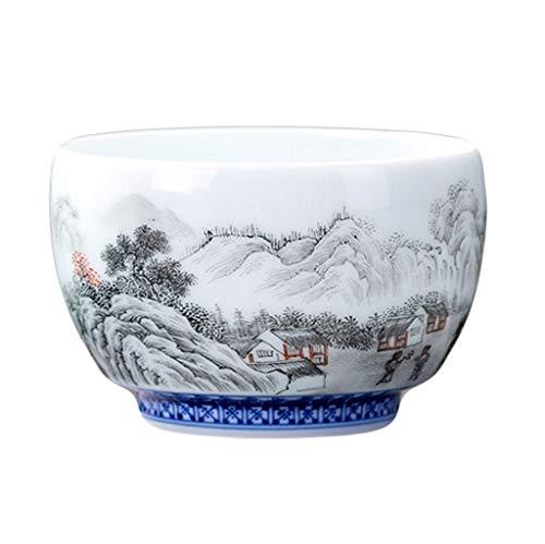 Weißes Porzellan Handgemalte Schnee Kleine Tassen Ultradünne Single Master Cup Haushaltswaren Tassen Keramik Kung Fu Tee-Set (Kleine Weiße Tee-cup-set)