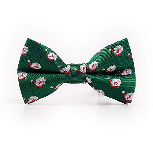 stücher Mann-Krawatten-Feriengeschenk-Weihnachtsmann-Hut-Fliege kreatives Persönlichkeits-Grün ()