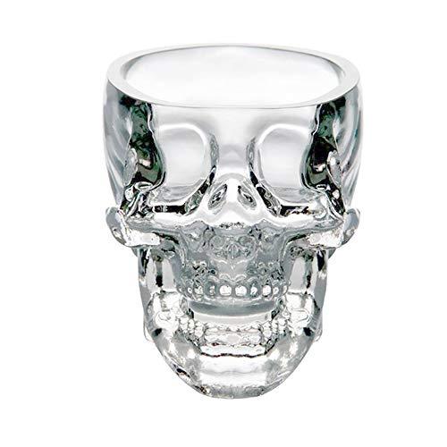 HBLWX Große Schädel-Schnapsgläser, 3D Clear Crystal Set 6, Brandy Tequila Bourbon Scotch Rum - Alkohol Scotch Clear Crystal Brandy