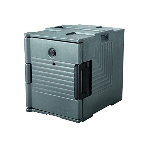 GN Port Récipient en plastique avec revêtement PU Isolation thermique – Compatible avec récipients GN 1/1, avec porte avant, intérieur Hauteur 50 cm, 12 emplacements, couvercle et joint avec valve de ventilation – empilables, double paroi et en qualité premium/Dimensions : 68 X 45 X 60 cm