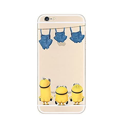 Disney Princesse souple transparent pour Apple iPhone 5/5S, 5 C, 5, et 6/6S, Minnions-Starring Pants, iPhone6/6S