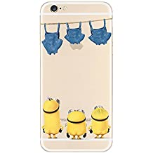 Disney Princess Transparent Soft Cases for Apple iphone 5/5S 5C 6/6S (iPHONE5C, MINIONS- STARRING PANTS)