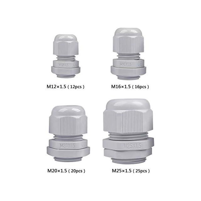 1 M8 Sucre auxiliaire/® presse-/étoupes/ Noir //étanche IP68/Compression M8/M12/M16/M20/M24/M24/Noir ou blanc