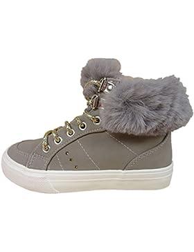 BMS Jodi - Zapatillas de Material Sintético para niña gris gris