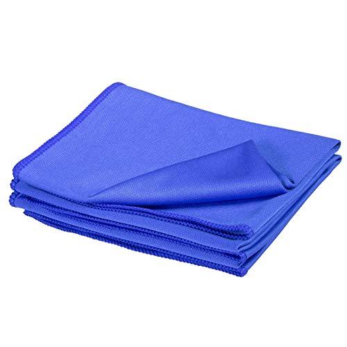 Cosey - 3er Pack, Mikrofaser-Glasreinigungstuch, dunkelblau