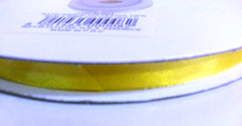 Pianeta Confetti CKR6 Bobine de ruban de satin double-face, pour marque-place, bonbonnière, sachets de dragées, 6 mm x 50 m, jaune