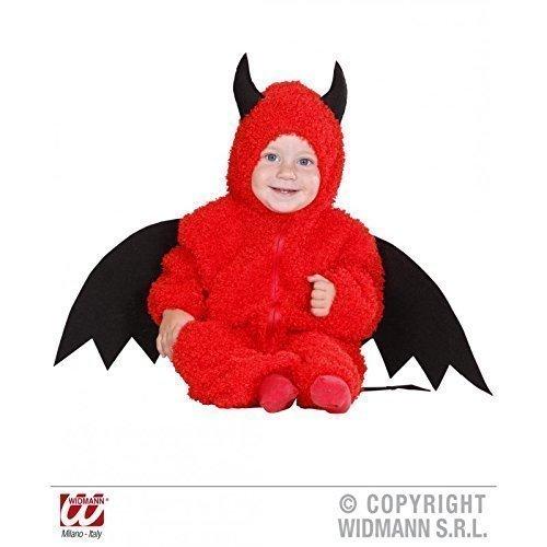 Kostüm Teufelchen Fuzzy - Kleinkinder Overall mit Kapuze in Gr. (Kostüm Flügel Teufel Machen)