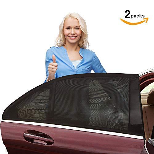 Nasharia Sonnenschutz Auto (2 Stück), Universal Sonnenblende Auto Sonnenschutz mit UV Schutz/Blendschutz 2 Stück für Autos und SUVs Seite Heckscheibe Fenster