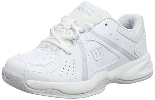 Wilson Envy Carpet Junior, Unisex-Kinder Tennisschuhe, Mehrfarbig (White/BLK 002), 36 EU (3 Kinder UK)
