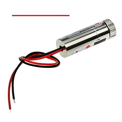 650nm 5mW Rojo Linea Red Laser Line Module Focus Adjustable Laser Head 5V M0039
