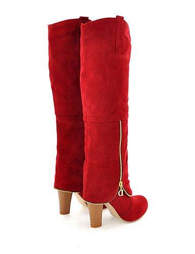 ShangYi Mode Frauen Schuhe Schuhe Damen Frühjahr / Herbst / Winter Fashion Stiefel / Party & Abend / Casual Ferse ZipperBlack Grau