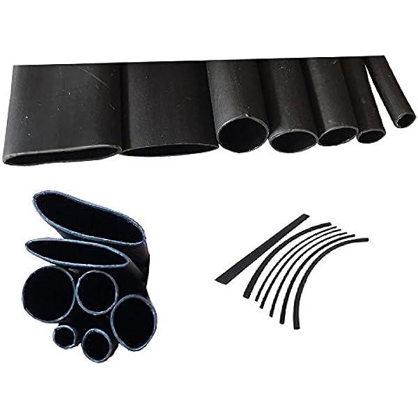 80 mm Innen /ø, L/änge 1m Schrumpfschlauch 3:1 Schwarz Auswahl aus 8 Durchmesser und 6 L/ängen Meterware von ISOLATECH/®