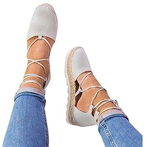 Juleya Femme Sandales Été Chaussures Plat Lacet Sandales Plateform Nu Chaussures Mode Bout Fermé Chaussures 36-44