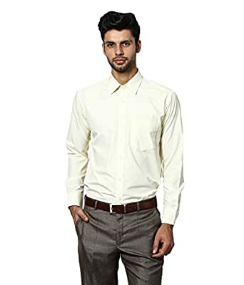 Protext Mens Slim Fit Wrinkle Free Cotton Shirt (Cream,$a)